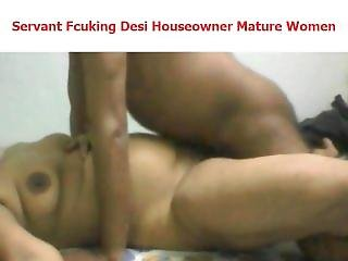 Servant Fucking Desi Indian Houseowner Lady