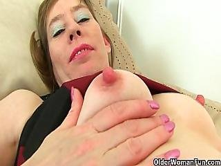 Anglaise, Masturbation, Mature, Milf, Nylon, Collants, Bas Collants, Sexy, Stocker, étroite