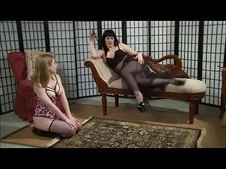 Lesbian Femdom Domination In Stockings