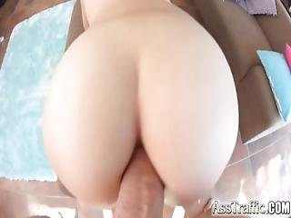 anal, röv, blondin, doggystyle, knullar, hårdporr
