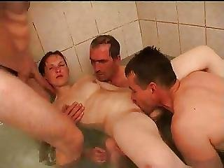 Stp3 Dad And Friends Ruin Her Bathtime