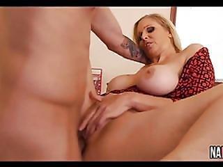 Sexy Busty Blonde Rides Cock In Break Room Julia Ann