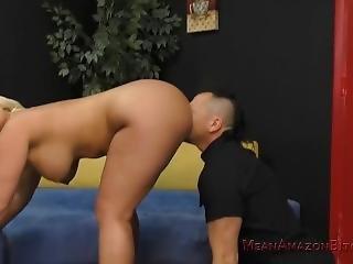 Julie Makes Her Wimp Husband Eat Her Ass - Femdom Ass Worship
