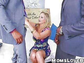 Hot Blonde Milf Julia Ann Hammered In Threesome By Bbcs
