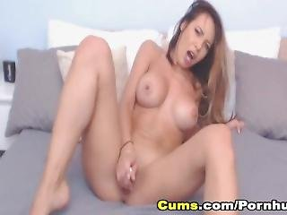 Naughty Babe Sucks Dildo Then Fuck Her Pussy