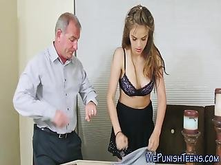Dominated Teen Rides Cock