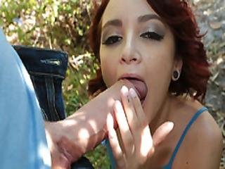 Lola Swallowing Bigcock On The Streets Of Miami