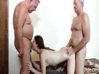 Hardcore Old And Young Fuck For Teen Getting Double Penetration Sex