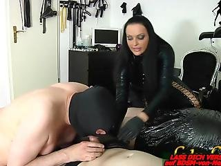 German Bisexual Bdsm Slave First Time Blowjob For Femdom Lady