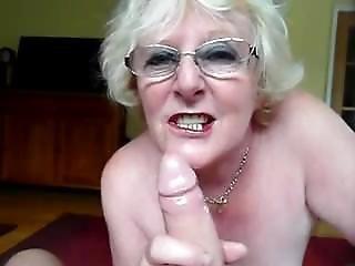 Dirty British Granny Sucks Cock (1)