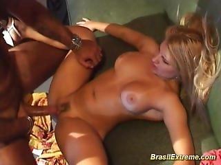 Dolls fucked in Brazilian orgy