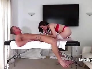 Visit To Massage Parlour Turned Into Torumpy-pumpy With Brunette Masseuse