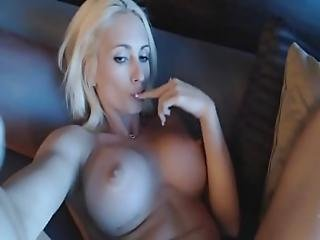 Blonde Squirts All Over Sofa - Sexyangelz.net