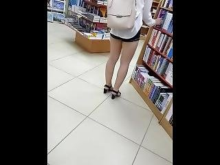 Sexy Young Russian Girl In The Library