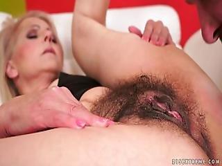 Hairy Granny Pussy Fucked Hard