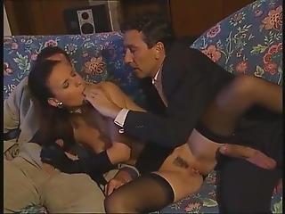 Black Stockings Claudia Rossi Threesome Dp