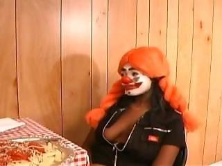 Clown, Ebbehout Kleur Sex, Interraciale, Trio, Uniform