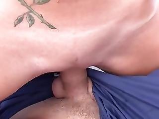 Damn Couple Having Fun On Pvc Boat Cum Swallowing Scene