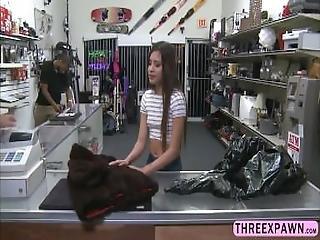 Pretty Latina Teen Chick Sucks Huge Dick And Rides It