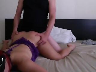 My Slut Taking My Huge Cock.
