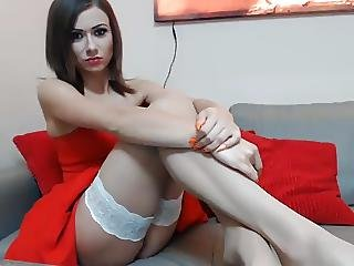 Beautiful Bitch With Polish Presents In Front Of The Cameras