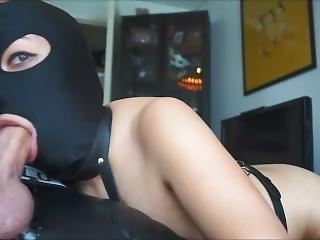 Latex Asian Milf Hood Blowjob