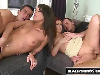 Reality Kings - Euro Teens, Melanie Memphis & Geena Gain Fuck In Foursome