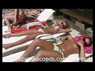 Naked Sunbathing At Florida Beach House