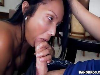 Latina Maid With Big Ass Cleans And Fucks
