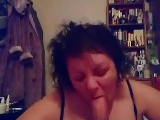 Slut Wife Swallowing Cock