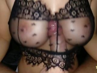 amatør, stort bryst, BH, sædshot, tissemand, kneppe, milf, pov, bryst fuckning