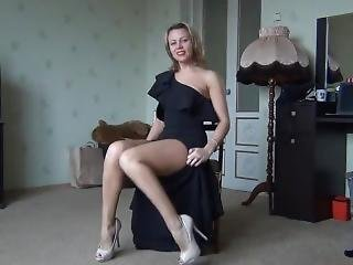 Sexy Russian Teacher Masturbate