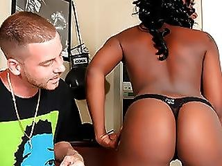 Black Beauty Blowing Her White Producer