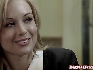 Gorgeous Bibi Jones Sucks Dick And Licks Cum