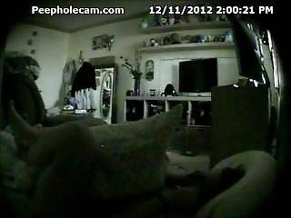 Teen Caught Masturbating In Bedroom (hidden Cam - Peepholecam 121112)