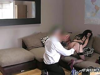 Slim Lap Dancer Fucks In Casting