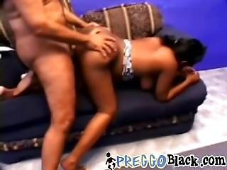 Pregnant Ebony Takes A Hard Stiff Cock From Behind