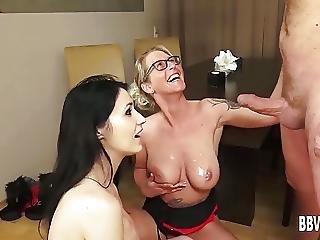 German Babes Sharing A Big Cock