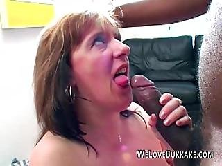 amatør, bbw, store bryster, sort, blowjob, bryst, fed, sædshot, facial, gangbang, interracial, meloner