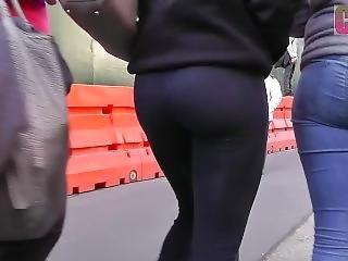 Big Tight Ass In Black Leggings
