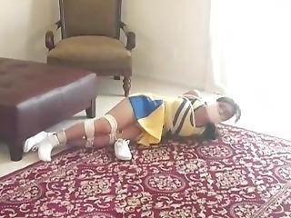 bondage, cheerleader, fetish, Tiener, strak