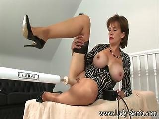 Lady Sonia - Trophy Wife Pounded By Huge Fucking Machine