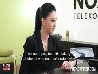 Teeny Brunette Fucks And Sucks Her Boss