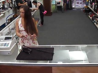 An Ex Dominatrix Agrees To Suck Pawnshop Owners Cock