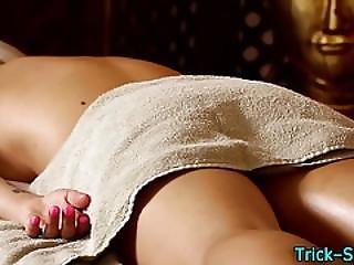 Massaged Blonde Hottie