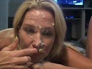 Sunday Night Football Cum Facial From Look4milf.com