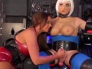 Mistress Uses Dolly Foe Her Milking Slave