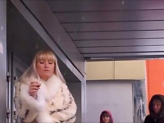 Smoking Woman In Fur Coat - Very Addicted.