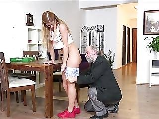 Father And Son Fucking Blonde Teen In Turn