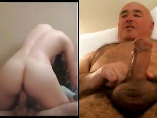 Couple Fucking, Man Watching